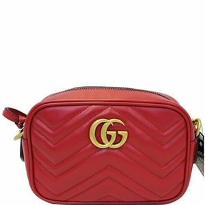 GUCCI GG Marmont Matelasse Mini Crossbody Bag